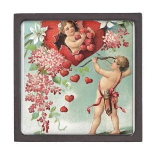 Liebeherzengels-Engel Vintager Valentine Schachtel