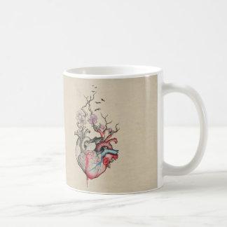 Liebekunst verschmolz anatomische Herzen mit Kaffeetasse
