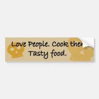 Liebeleute. Kochen Sie sie. Geschmackvolle Nahrung Autoaufkleber