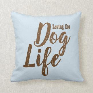 Lieben des Hundelebenreversible-Kissens Kissen