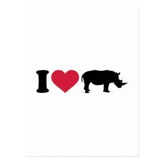 Lieben I Rhinos Postkarte