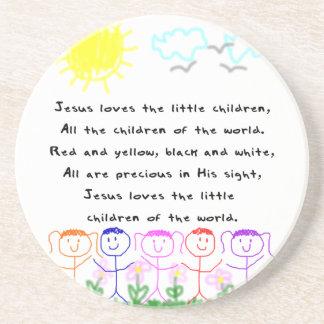 Lieben KRW Jesus die kleine KinderUntersetzer Getränkeuntersetzer