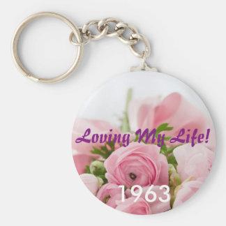 Lieben meiner Leben-Geburts-Jahr-Schlüsselkette Standard Runder Schlüsselanhänger