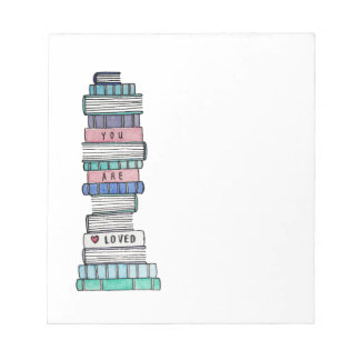 Liebender Bookstack Notizblock