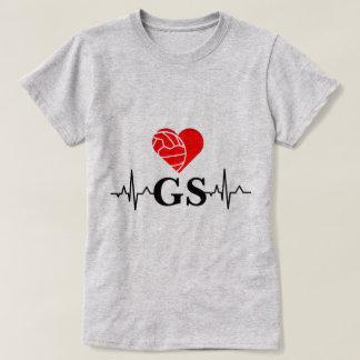 LiebeNetball des Spieler-Positions-Herzschlag-I T-Shirt
