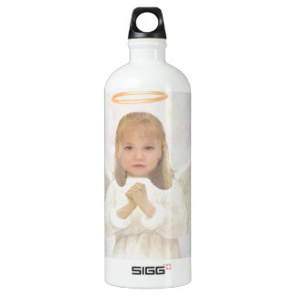 Liebenswürdig - kleines Mädchen-Engels-Beten Aluminiumwasserflasche