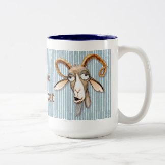 Liebenswürdige alte Ziege - fertigen Sie besonders Zweifarbige Tasse
