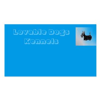 Liebenswürdige Hundehundehütten Visitenkarten