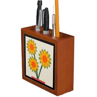 Liebenswürdige Sonnenblumen Stifthalter