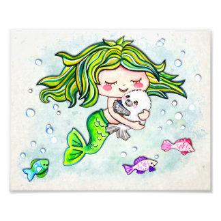 Liebenswürdige Süsse-kleine Meerjungfrau Fotodruck