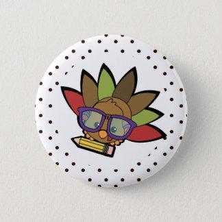 Liebenswürdiger Smarty die Türkei Runder Button 5,1 Cm