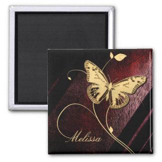 Lieber Butterfly ID199 Quadratischer Magnet