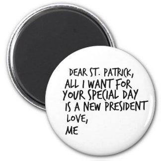 Lieber St- Patrickneuer Präsident Anti-Trumpf Runder Magnet 5,1 Cm