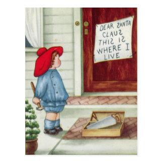 Lieber Weihnachtsmann Vintag Postkarte