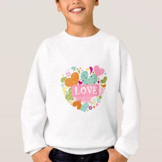 Liebes-bunte Muster-Herz-Form Sweatshirt
