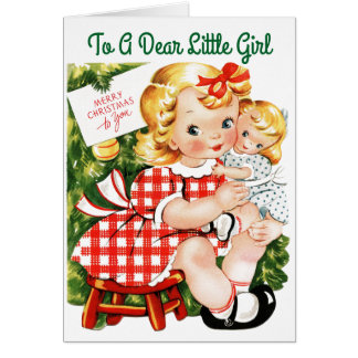 Liebes kleines Mädchen Karte