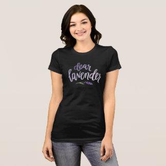 liebes Lavendel… Schwarzes T-Shirt