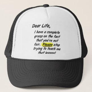 Liebes Leben ist nicht angemessener lustiger Truckerkappe