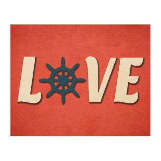 Liebeseeentwurf Holzdruck