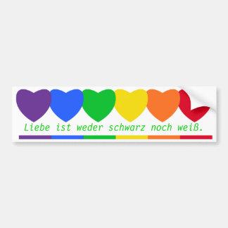 Liebesfarben Aufkleber Autoaufkleber