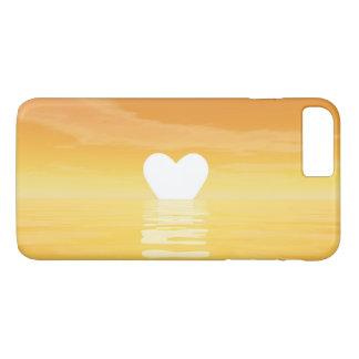 Liebesonnenuntergang - 3D übertragen iPhone 7 Plus Hülle