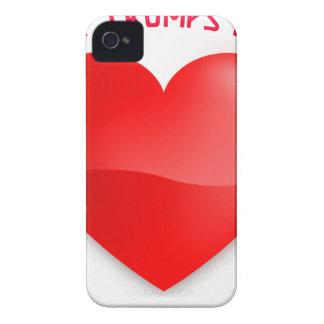 Liebetrümpfe hassen, rotes gehörtes iPhone 4 Case-Mate hülle