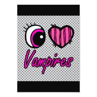 LiebeVampires des Emo Augen-Herz-I 12,7 X 17,8 Cm Einladungskarte