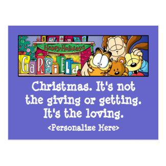 Liebevolle Feiertags-Postkarten Garfields Logobox Postkarte
