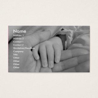 Liebevolle Handkinderbetreuungs-Visitenkarte Visitenkarte