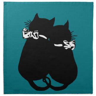 Liebevolle Katzen Stoffserviette