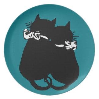 Liebevolle Katzen Teller