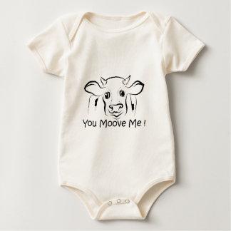 Liebevolle Kuh Baby Strampler