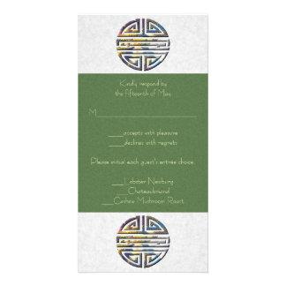 Liebevolle Langlebigkeits-Hochzeit Personalisierte Foto Karte