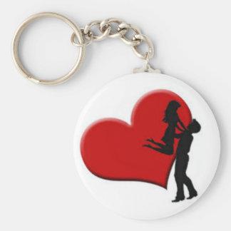 liebevolle Paare Standard Runder Schlüsselanhänger