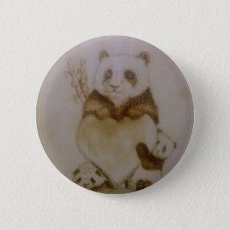 Liebevolle Pandas Runder Button 5,1 Cm