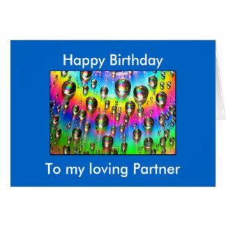 Liebevolle Partner-Geburtstags-Karte Karte