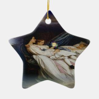 Liebevolle Traum-Verzierungen Keramik Stern-Ornament