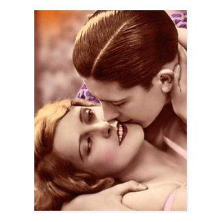 Liebevolle Umarmungs-Franzose-Postkarte Postkarte