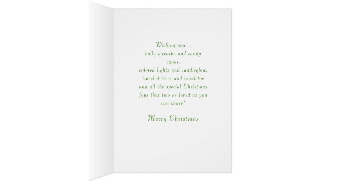 liebevolle weihnachtsw nsche f r tochter und sohn gru karte zazzle