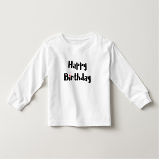 Liebevoller alles- Gute zum Geburtstagtext-rote Kleinkind T-shirt
