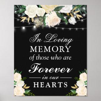 Liebevolles Gedächtnis-Elfenbein-im weißen Poster