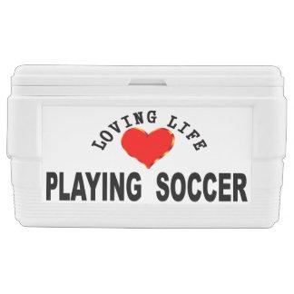 Liebevolles Leben, das Fußball spielt Kühlbox