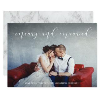 Liebevolles Skript | fröhlich und verheiratet mit Karte