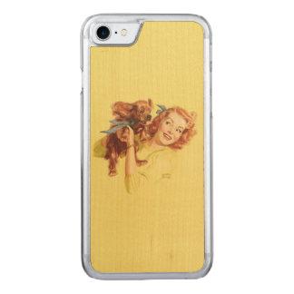 LIEBEVOLLES WELPEN-BUTTON HERAUF iPhone 5/5s Carved iPhone 8/7 Hülle