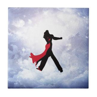 Liebhaber, die in den Liebestern tanzen Fliese