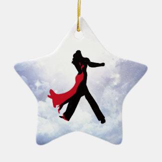 Liebhaber, die in den Liebestern tanzen Keramik Stern-Ornament