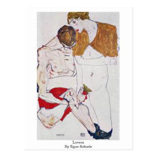 Liebhaber durch Egon Schiele Postkarte