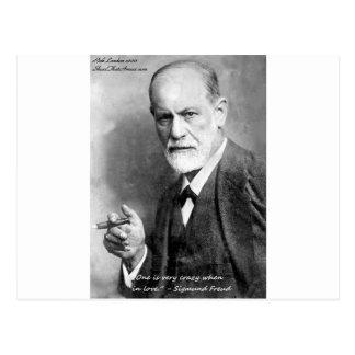 Liebhaber-Liebe-Zitat-Geschenk-Karten usw. Freud Postkarte