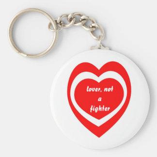Liebhaber, nicht ein Kämpfer keychain Standard Runder Schlüsselanhänger