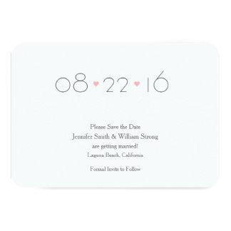 (Liebhabers} Save the Date Mitteilung 8,9 X 12,7 Cm Einladungskarte
